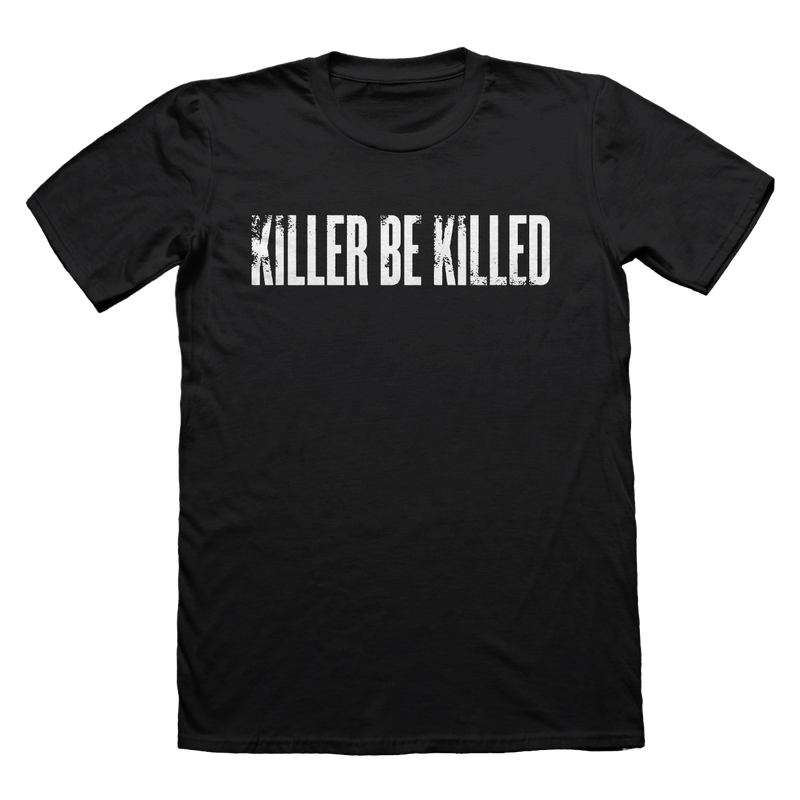 KILLER BE KILLED LOGO ON BLACK - T-SHIRT