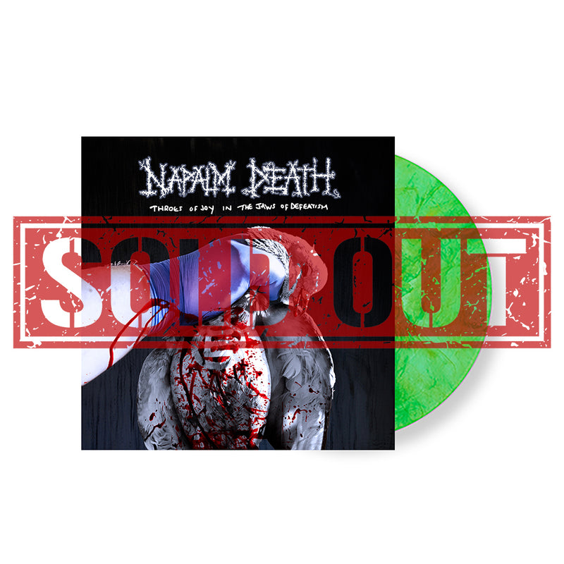 NAPALM DEATH 'THROES OF JOY IN THE JAWS OF DEFEATISM' LIMITED-EDITION MUCUS WITH ENVY SWIRLED VINYL— ONLY 250 MADE