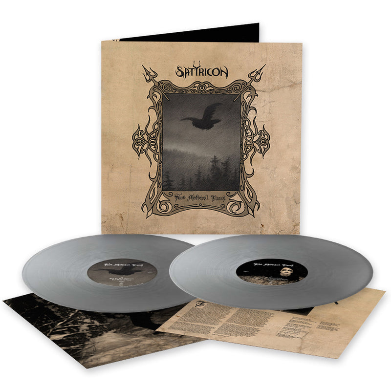 SATYRICON 'DARK MEDIEVAL TIMES' LIMITED-EDITION SILVER 2LP — ONLY 500 MADE