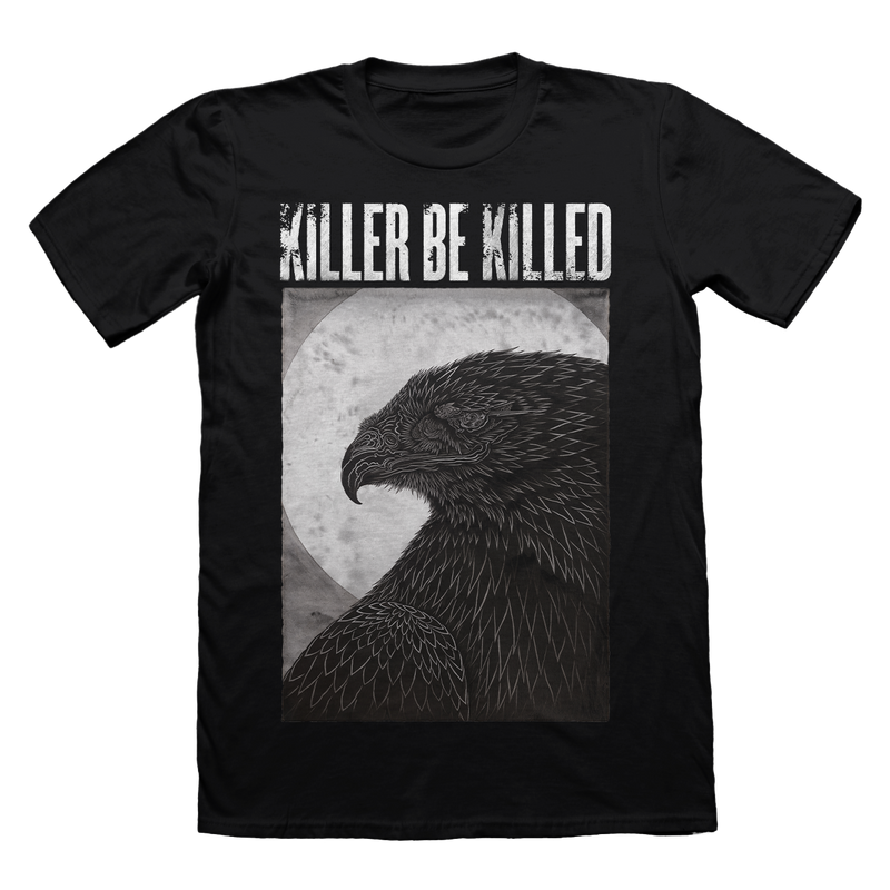 KILLER BE KILLED ARTIST SERIES : THOMAS HOOPER 'EAGLE T-SHIRT' ON BLACK