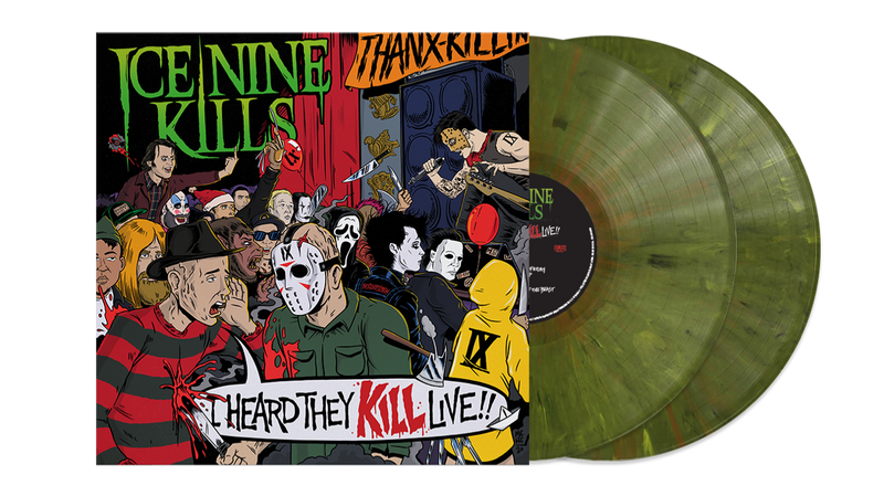ICE NINE KILLS 'I HEARD THEY KILL LIVE' LIMITED-EDITION 2LP GREEN MARBLE VINYL— ONLY 350 MADE