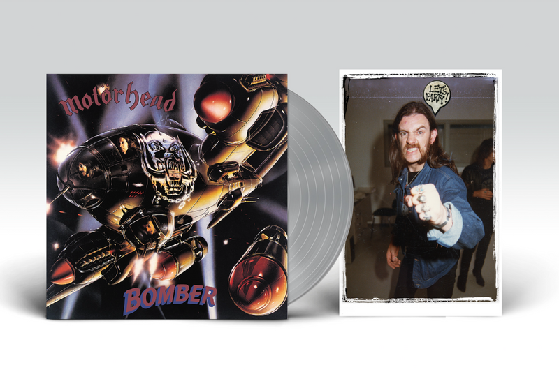 MOTÖRHEAD 'BOMBER' SILVER LP BUNDLE WITH HAND-NUMBERED PHOTO PRINT - LIMITED TO 500
