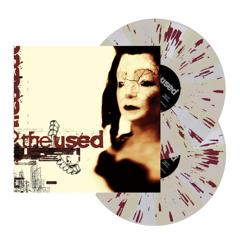 THE USED 'SELF-TITLED' LIMITED-EDITION 2LP BONE AND ULTRA CLEAR PINWHEEL WITH MAROON SPLATTER — ONLY 500 MADE