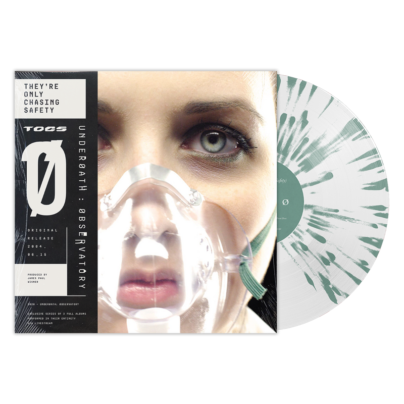 UNDEROATH 'THEY'RE ONLY CHASING SAFETY' LIMITED-EDITION WHITE WITH GREEN SPLATTER VINYL— ONLY 500 MADE
