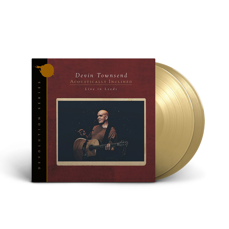 DEVIN TOWNSEND 'ACOUSTICALLY INCLINED - LIVE IN LEEDS' LIMITED-EDITION TAN 2LP — ONLY 250 MADE