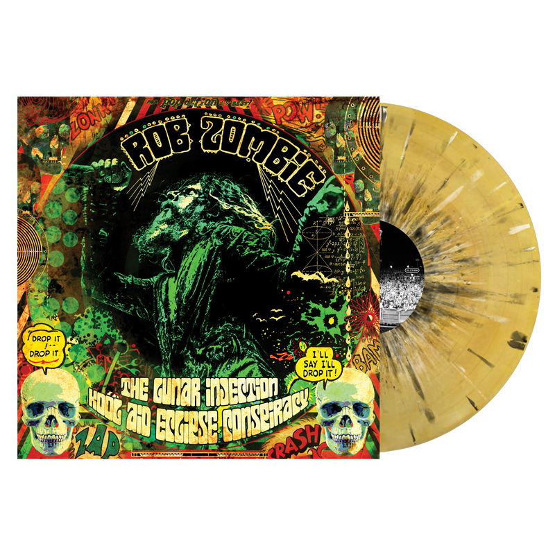ROB ZOMBIE 'THE LUNAR INJECTION KOOL AID ECLIPSE CONSPIRACY' LIMITED-EDITION BEER & MUSTARD SWIRL VINYL— ONLY 750 MADE