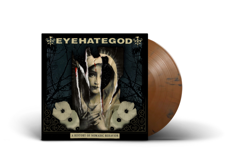 EYEHATEGOD 'A HISTORY OF NOMADIC BEHAVIOR' LIMITED-EDITION BROWN SWIRL LP — ONLY 300 MADE