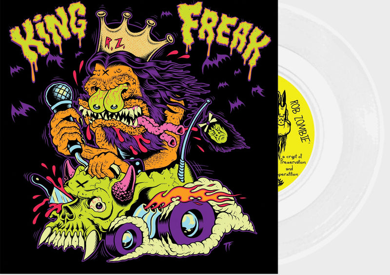 "ROB ZOMBIE 'KING FREAK' LIMITED-EDITION WHITE 7"" VINYL— ONLY 666 MADE"