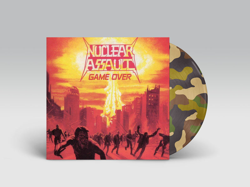 NUCLEAR ASSAULT 'GAME OVER' LIMITED-EDITION COMBAT CAMO PICTURE DISC— ONLY 200 MADE