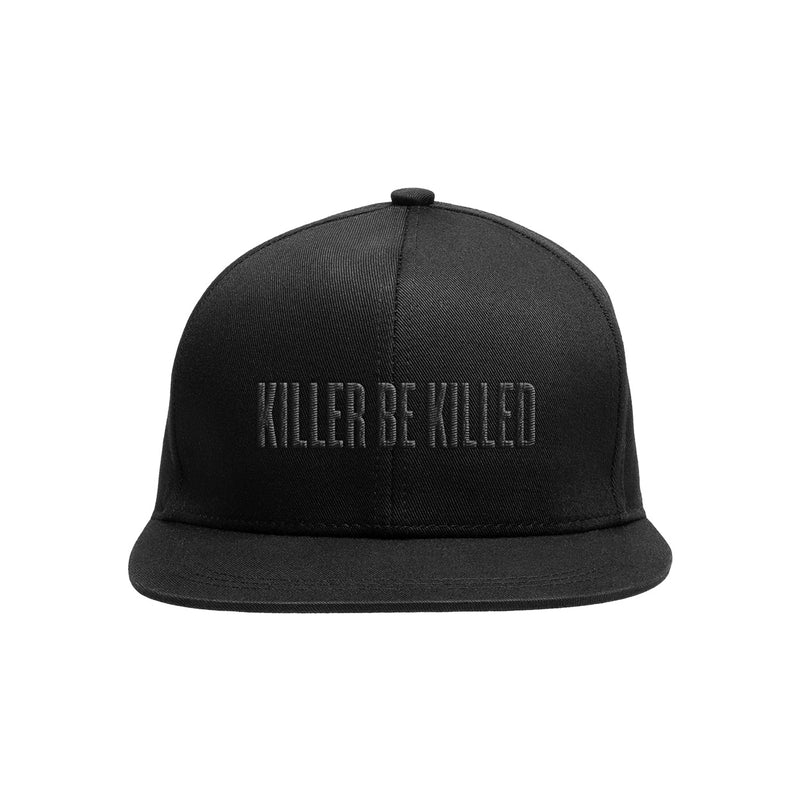 KILLER BE KILLED BLACK ON BLACK LOGO - SNAPBACK