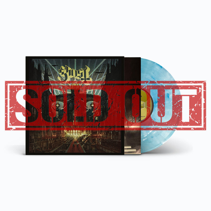 GHOST 'MELIORA' LIMITED-EDITION WHITE WITH BLUE SWIRLS VINYL— ONLY 1000 MADE