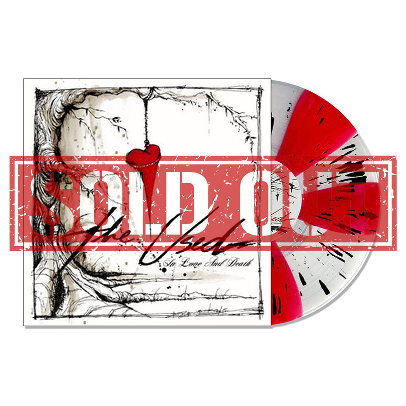 THE USED 'IN LOVE AND DEATH' LIMITED-EDITION ULTRA CLEAR AND RED PINWHEEL WITH BLACK SPLATTER — ONLY 500 MADE
