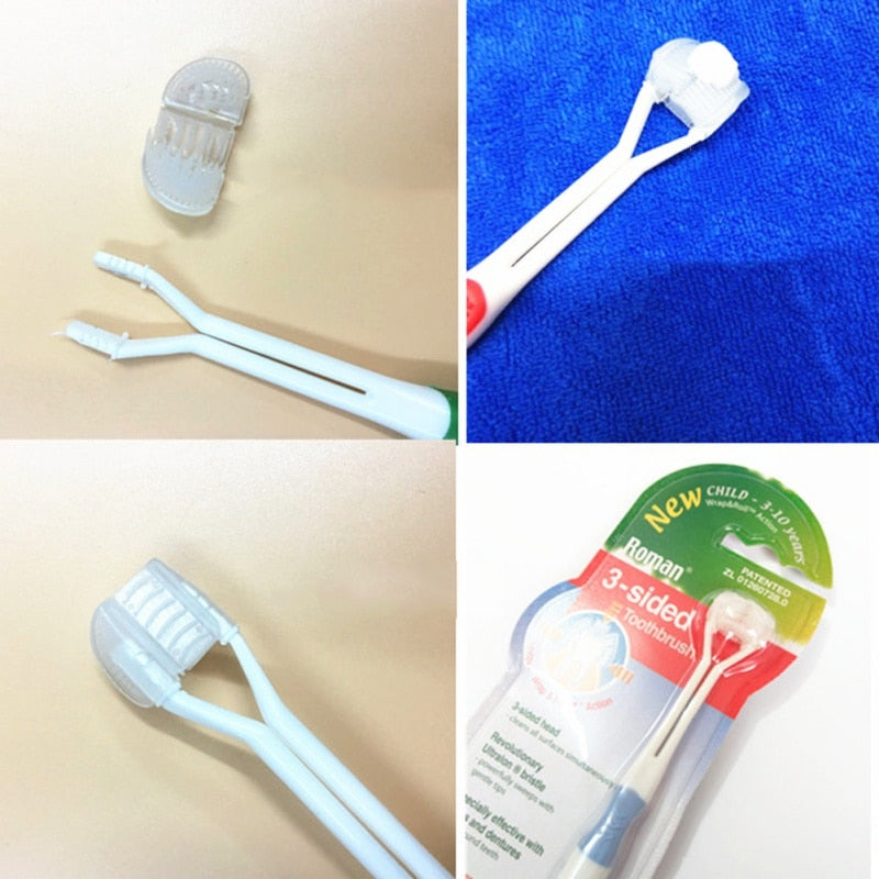 Adult Children 3 Sided Toothbrush
