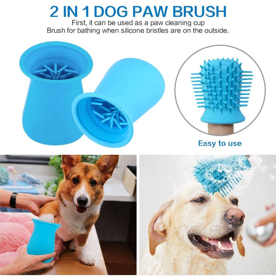 Dog Paw Cleaner Silicone 2 In 1