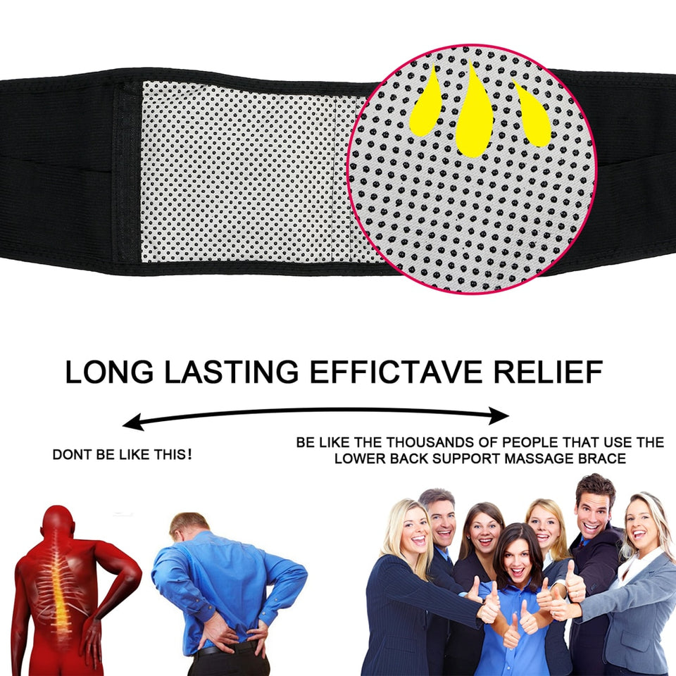 Adjustable Waist Tourmaline Self heating Magnetic Therapy