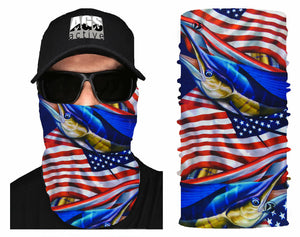 1 Face Mask Sun Shield Neck Gaiter Balaclava Neckerchief Bandana Headband SPF40