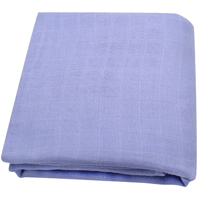 Bamboo Muslin Baby Swaddle Blanket In Twilight