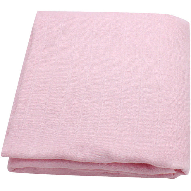Bamboo Muslin Baby Swaddle Blanket In Cotton Candy
