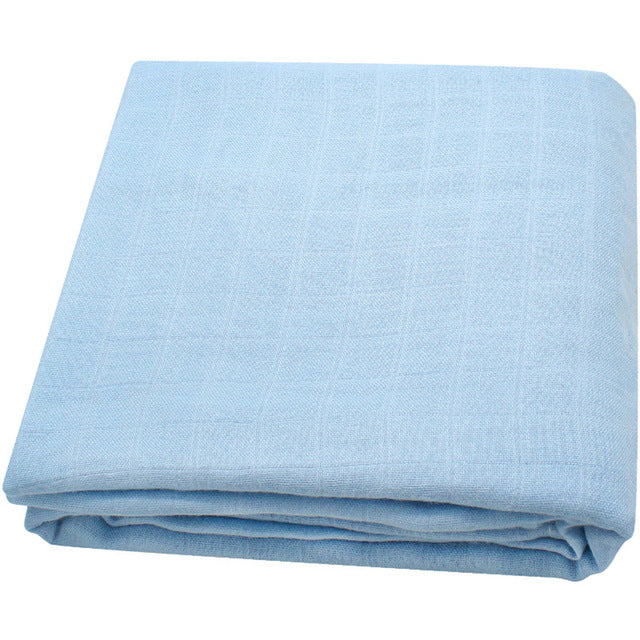 Bamboo Muslin Baby Swaddle Blanket In Big Sky