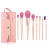 Set de Brochas Rose Gold Pink 12 Piezas + 1 Labial Gratis!