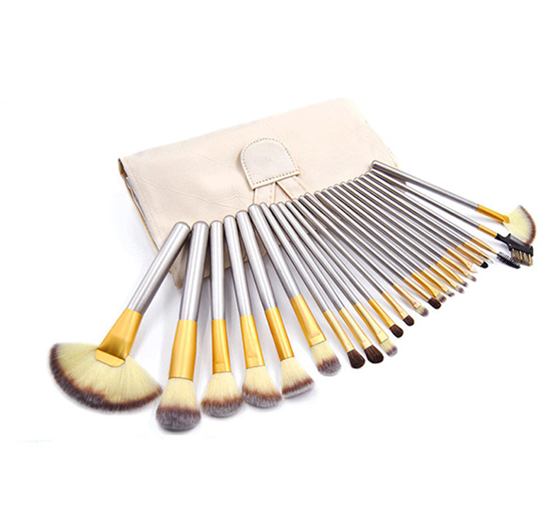 Set de Brochas Golden Gray 24 Piezas + 1 Labial Gratis!