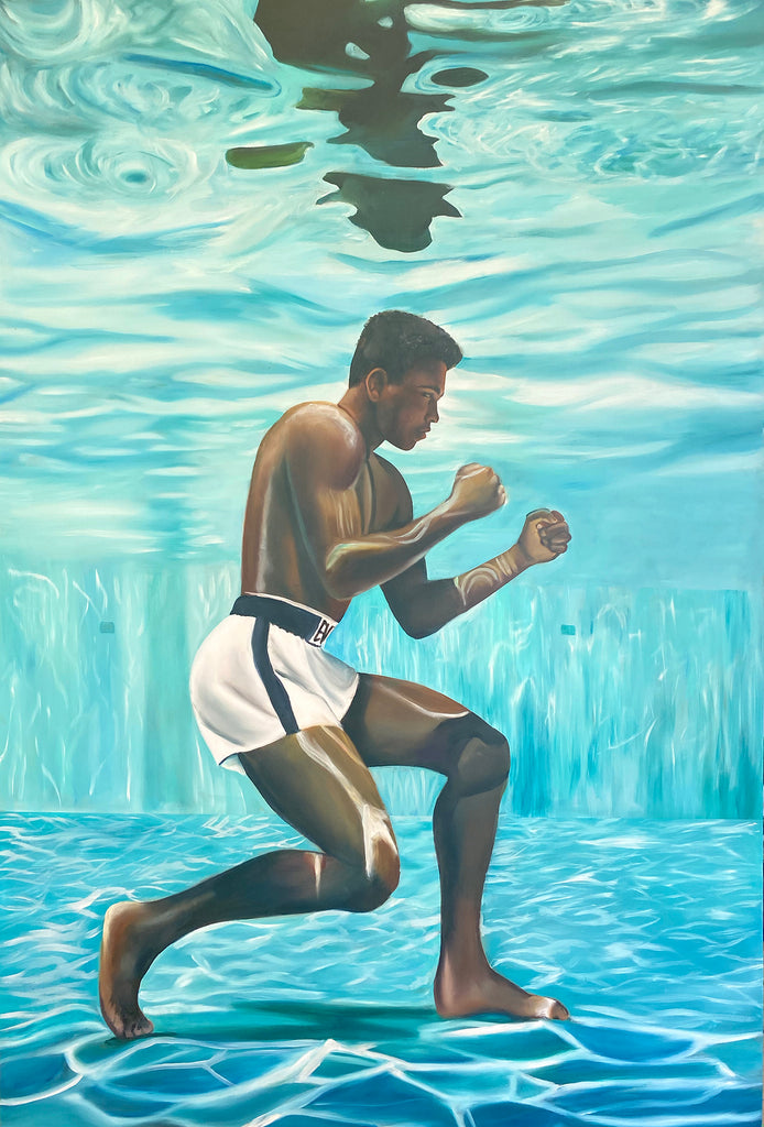 Ali under water print by Carling Jackson