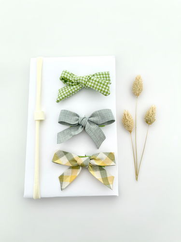 3 mini bows - Green