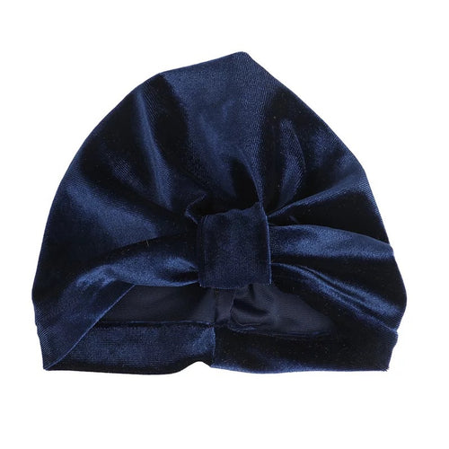 Baby Velvet  Navy Blue Turban