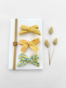 3 mini bows - Yellow