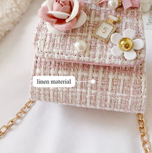 Load image into Gallery viewer, Pink Linen Purse