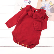 Load image into Gallery viewer, Baby Wool Romper -Christmas Red
