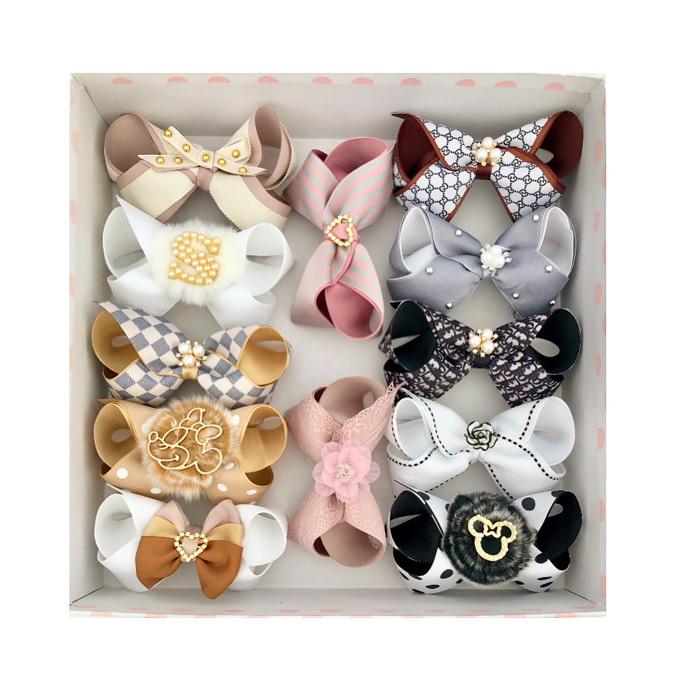 Gift Box D - 12 Hairbows