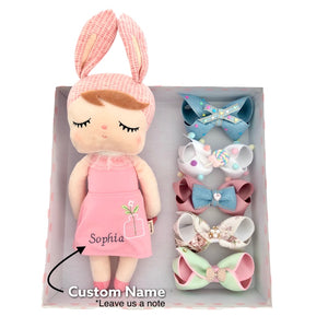 Gift Box Doll A -  5 Hairbows + Doll
