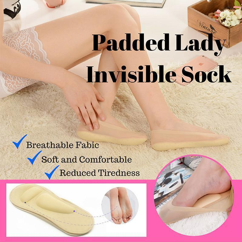 3D Foot Massage Padded Lady Invisible Socks