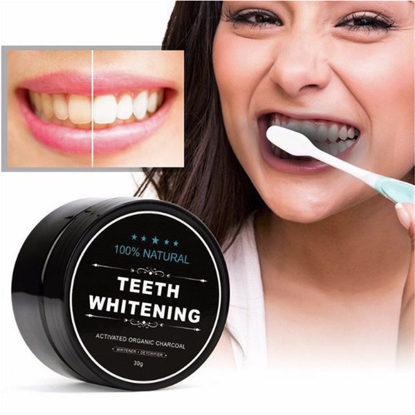 Teeth Whitening 30g Powder Smoke Coffee Tea Stain Remove Bamboo Activated Charcoal