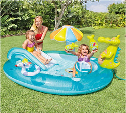 Kids Inflatable Bath Tub Crocodile Park Fountain Baby Marine Ball Pool Children Portable Swimming Pool Lightweight Reservoir