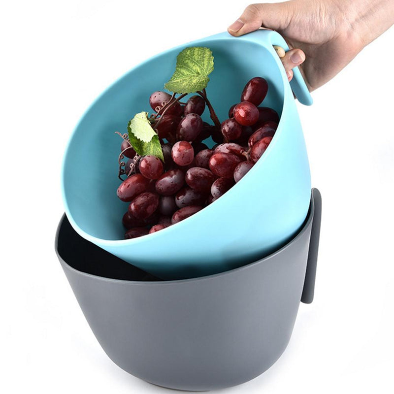 Double Fruit Wash Basket