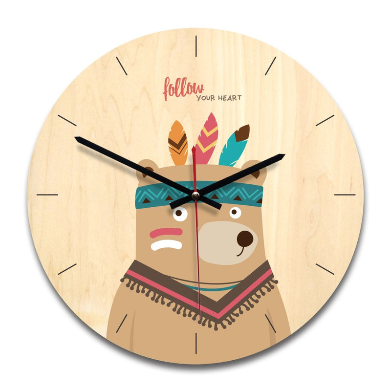 Wooden Creative Wall Clock
