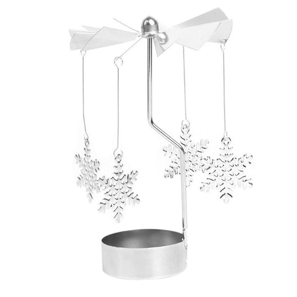 Rotary Metal Carousel Tea Light Candle Holder