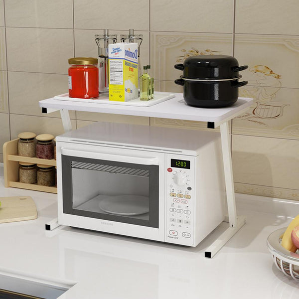 Microwave Oven 2 Tier Kitchen Storage Shelf