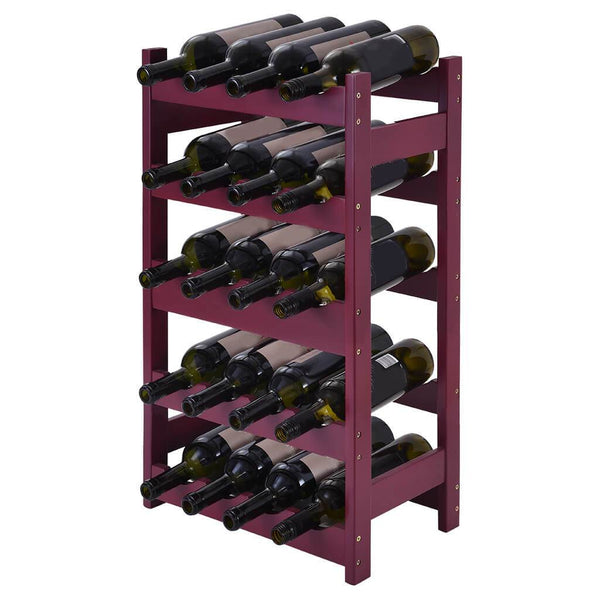 Wood 20 Wine Display Rack