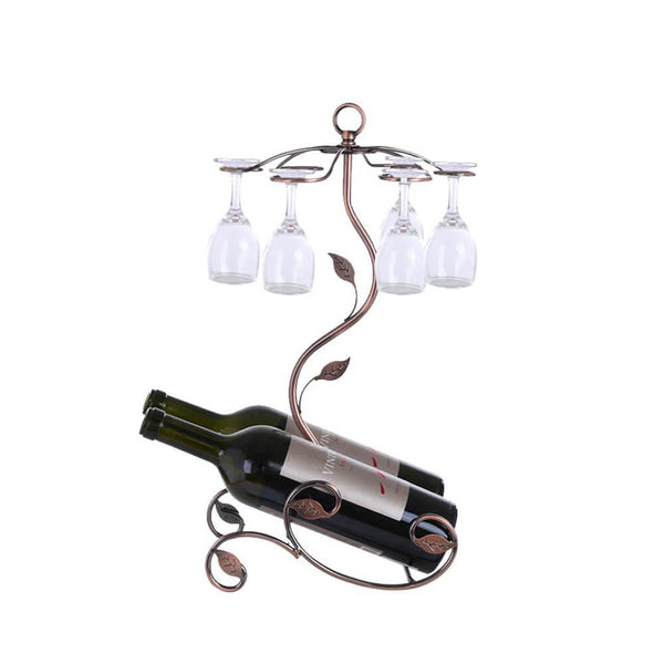 Stackable Wine Glass Metal Rack Countertop