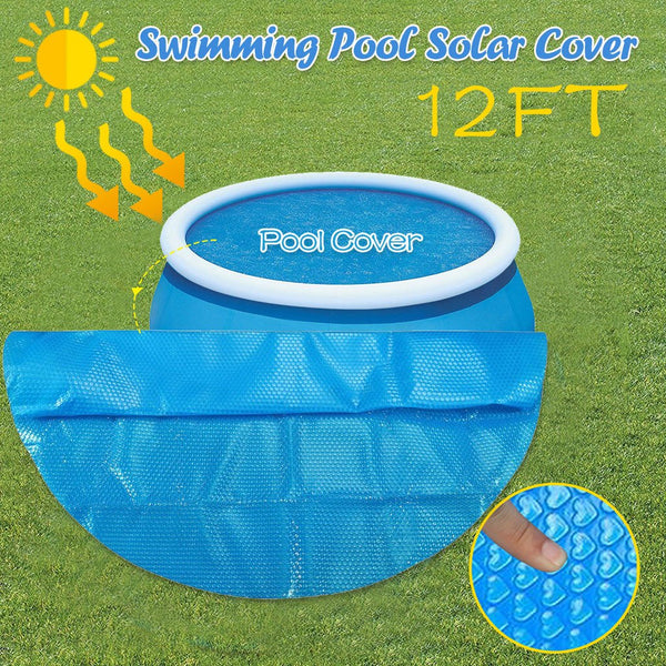 Round Pool Cover Protector Ground Blue Protection Swimming Pool
