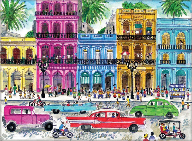 Colorful house 1000 Piece Puzzle (Wooden)