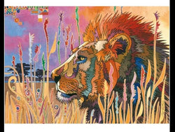 Lion in the wilderness 1000 Piece Puzzle (Wooden)