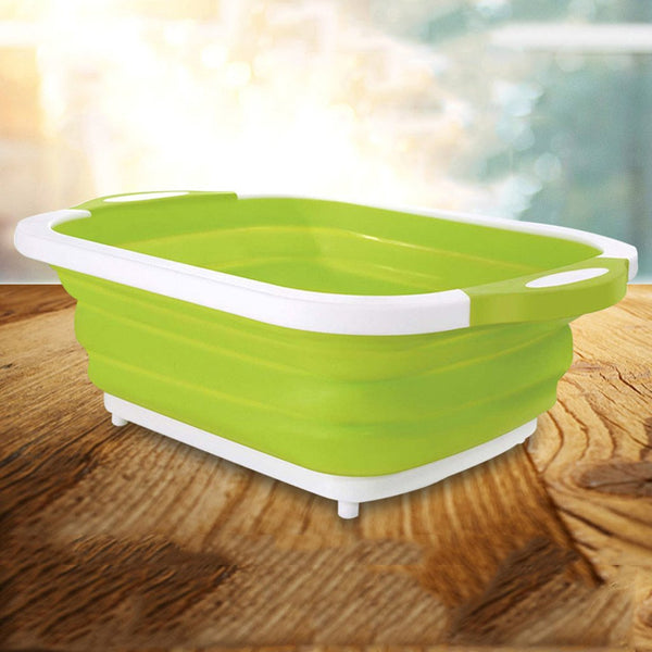 Multifunction Foldable Cutting Board Basket