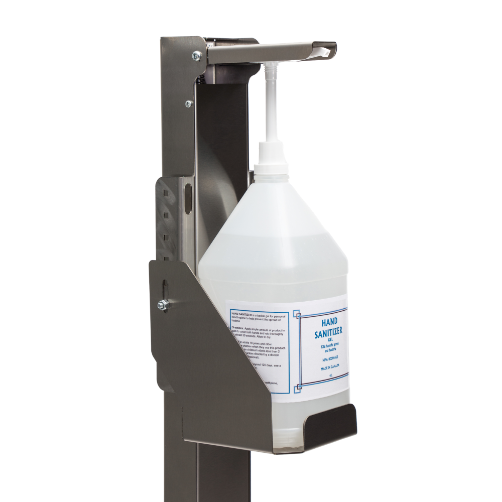 Free-Standing Hand Sanitizer Dispenser With Pump And Jug - Step On Germs
