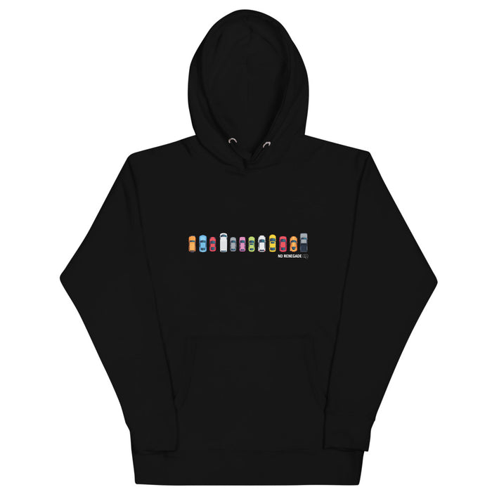 Lining Up Cars Hoodie