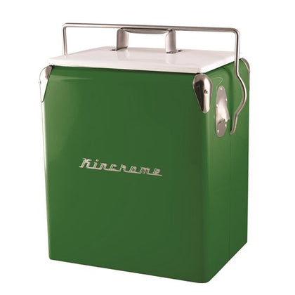 RETRO DRINKS COOLER 17L GREEN COOLER01