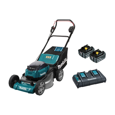 "18VX2 BRUSHLESS 534MM (21"") LAWN MOWER KIT, HEAVY DUTY STEEL DLM531PG2"
